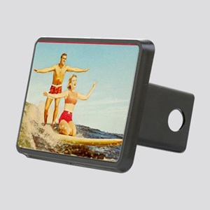 vintage surfers Rectangular Hitch Cover