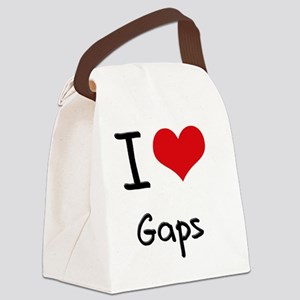 I Love Gaps Canvas Lunch Bag