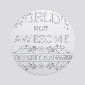 property manager Round Ornament