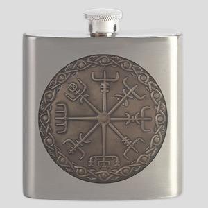 Brass Vegvisir Viking compass Flask