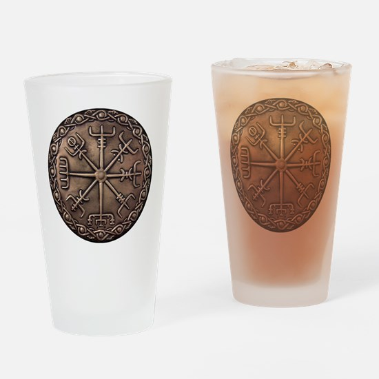 Brass Vegvisir Viking compass Drinking Glass