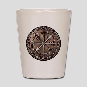 Brass Vegvisir Viking compass Shot Glass