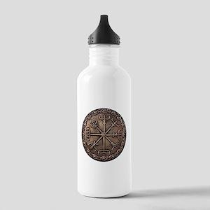 Brass Vegvisir Viking compass Water Bottle