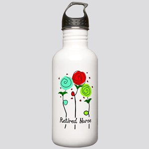 Retired Nurse Floral Stainless Water Bottle 1.0L