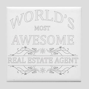real estate agent Tile Coaster