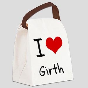 I Love Girth Canvas Lunch Bag