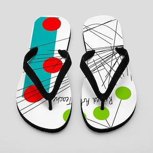 retired art teacher vertical Flip Flops