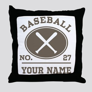 Personalized Baseball Number Player Name Throw Pil