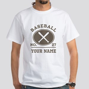Personalized Baseball Number Player Name T-Shirt