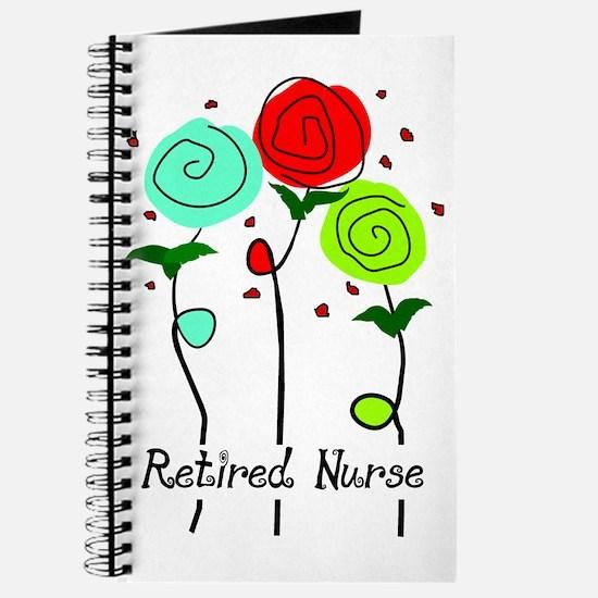 Retired Nurse Floral Journal