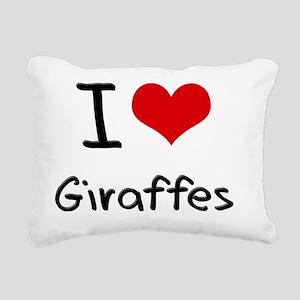 I Love Giraffes Rectangular Canvas Pillow