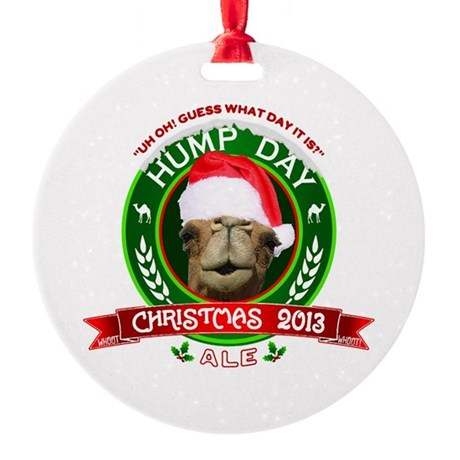 Hump Day Camel Christmas Ale Label Ornament