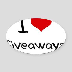 I Love Giveaways Oval Car Magnet