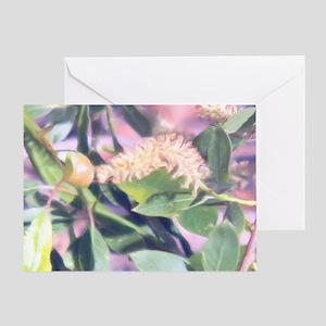 Pink Weed Greeting Card