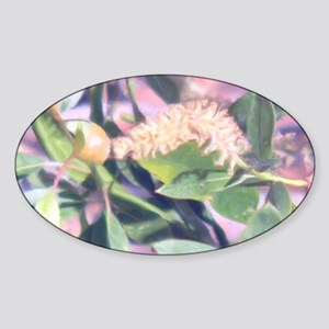 Pink Weed Sticker (Oval)