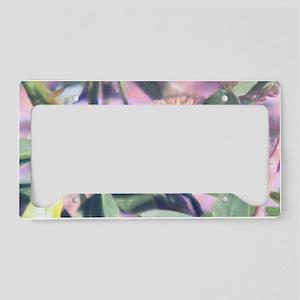 Pink Weed License Plate Holder