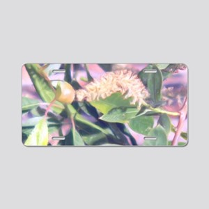 Pink Weed Aluminum License Plate