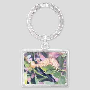 Pink Weed Landscape Keychain