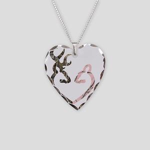 Deer Heart Necklace Heart Charm