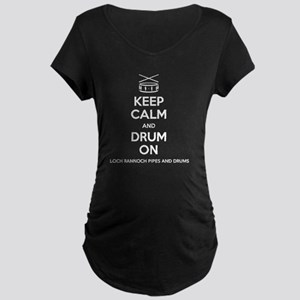 Keep Calm Maternity Dark T-Shirt