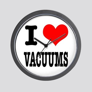I Heart (Love) Vacuums Wall Clock
