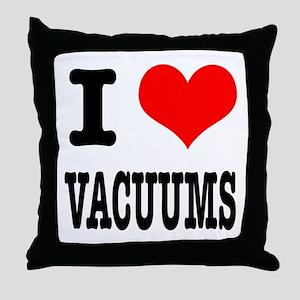 I Heart (Love) Vacuums Throw Pillow