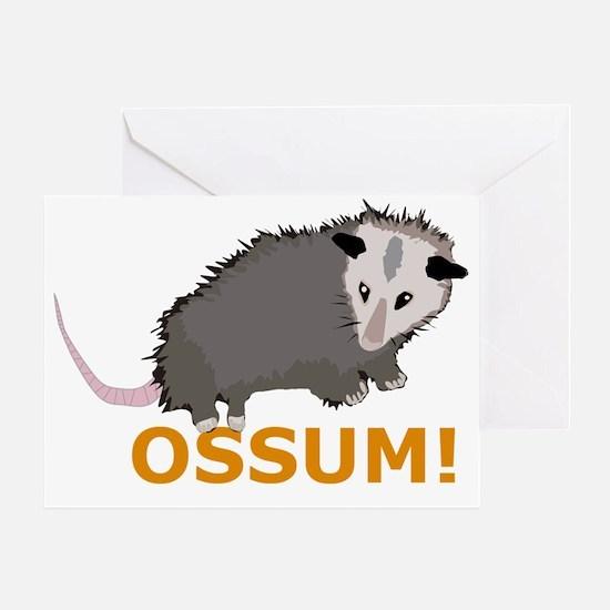 Opossum Greeting Card