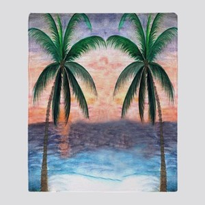 Sunset Palms Throw Blanket