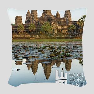 Angkor Wat Woven Throw Pillow