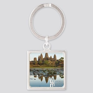 Angkor Wat Square Keychain