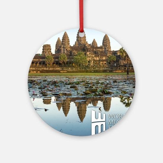 Angkor Wat Round Ornament