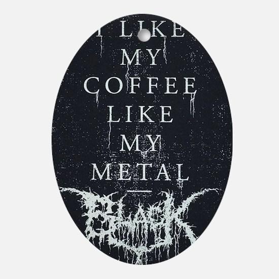 Black Metal Oval Ornament