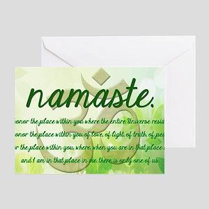Namaste Greeting Greeting Card