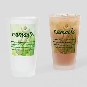 Namaste Greeting Card Drinking Glass