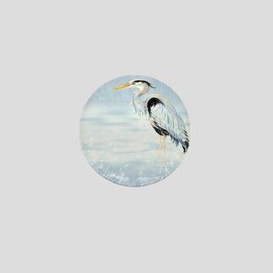 Watercolor Great Blue Heron Bird Mini Button