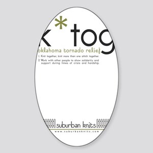 K*Tog Rectangle Magnet for cars Sticker (Oval)