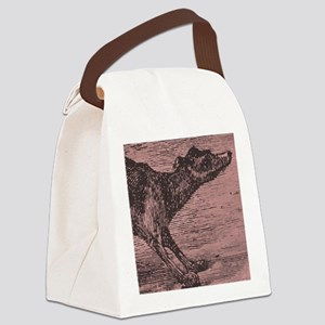 Just a Dog Canvas Lunch Bag