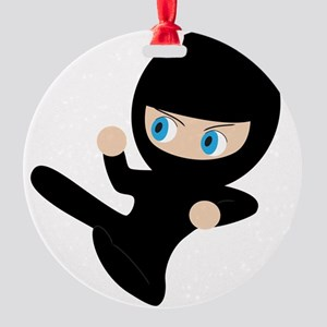 Womb Ninja Round Ornament