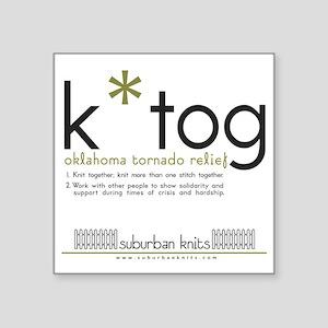 "K*Tog Regular Mug Square Sticker 3"" x 3"""