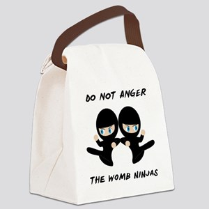 Womb Ninja Twins Canvas Lunch Bag
