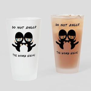 Womb Ninja Twins Drinking Glass