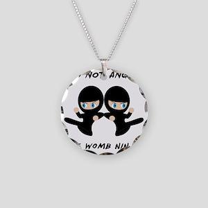 Womb Ninja Twins Necklace Circle Charm