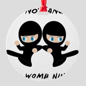 Womb Ninja Twins Round Ornament