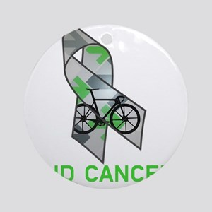Large Ribbon End Cancer Round Ornament