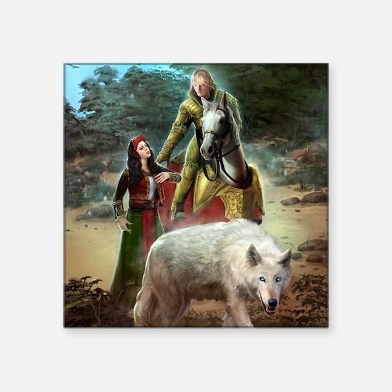 "The White Wolf Prophecy Lov Square Sticker 3"" x 3"""
