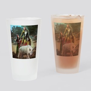 The White Wolf Prophecy Lovers Drinking Glass