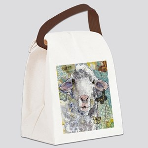 White Sheep Canvas Lunch Bag
