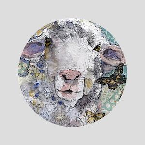 "White Sheep 3.5"" Button"
