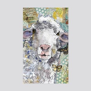 White Sheep Sticker (Rectangle)