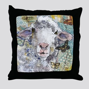 White Sheep Throw Pillow